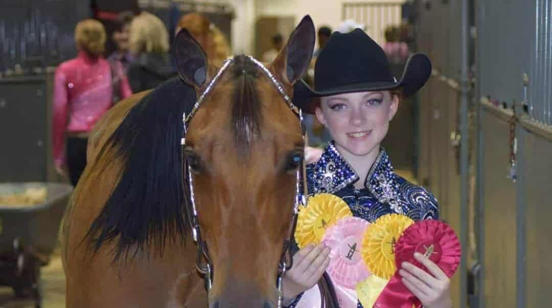 Show star rescue horse owned by Amber Keller