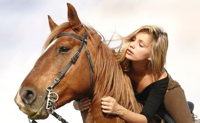 Girl and her horse best friend