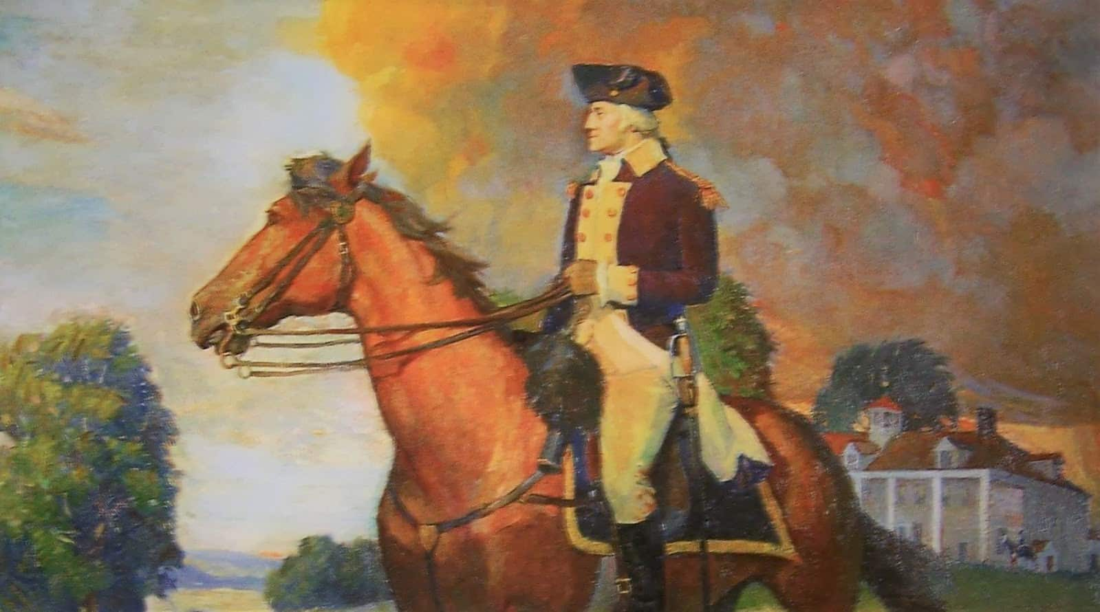 George Washington's Chestnut horse called Nelson from the revolutionary war