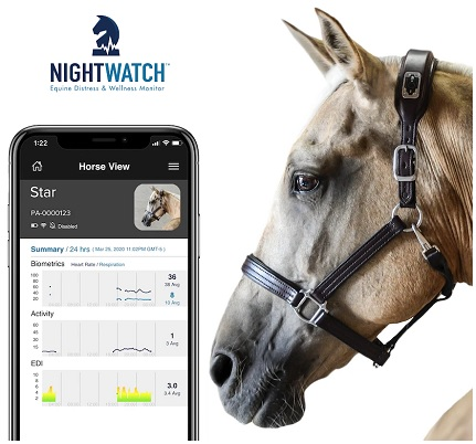 Nightwatch Equine app that monitors your horse