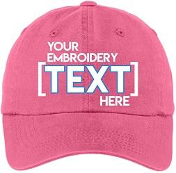 Personalized baseball cap hat gift idea