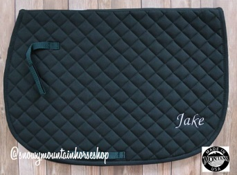Personalized saddle pad gift for equestrians on Etsy