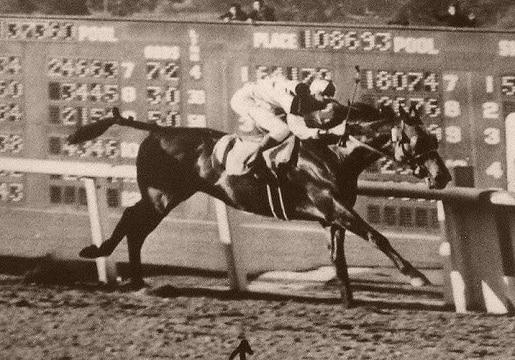 Seabiscuit winning the Santa Anita Handicap in 1940
