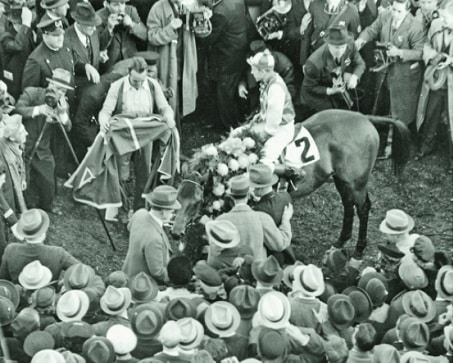 Seabiscuit after defeating War Admiral at Pimlico in 1937.