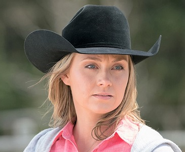 Amber Marshall on Heartland acting as the character Amy Fleming