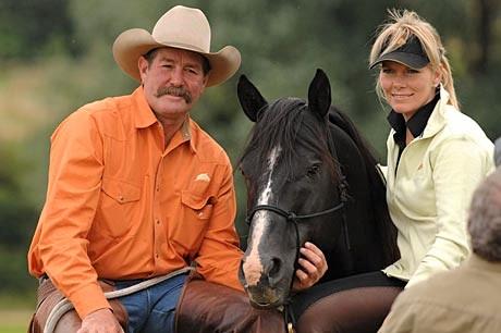 Pat and Linda Parelli, famous natural horsemanship trainers