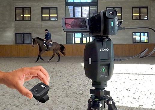Pixio camera recording a horse riding lesson