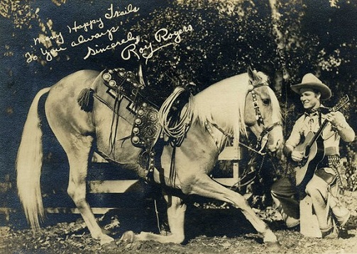 Roy Rogers with his horse, Trigger