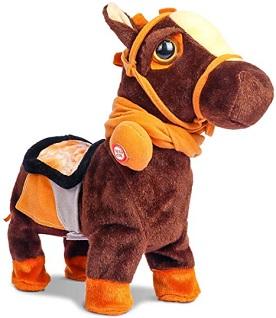 Smalody interactive electronic plush walking horse toy