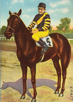 War Admiral, famous racehorse with his jockey