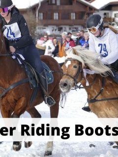 8 best winter horse riding boots for men and women. Warm thermal and insulated for equestrians