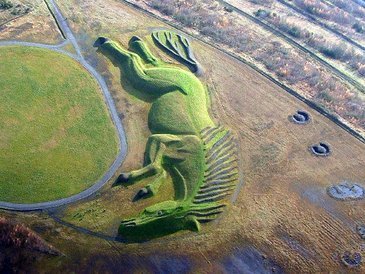 Sultan the Pit Pony natural earth sculpture in the UK