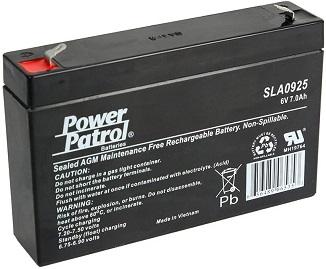 Interstate Batteries 6V 7AH Sealed Lead Acid (SLA) AGM Battery