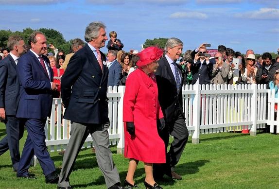Queen Elizabeth II at a horse race