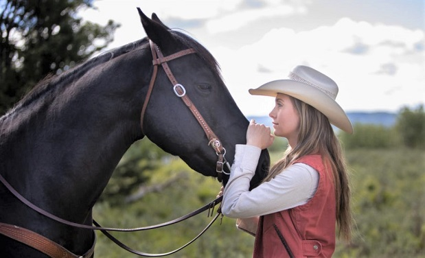 Amy Fleming and her horse Spartan