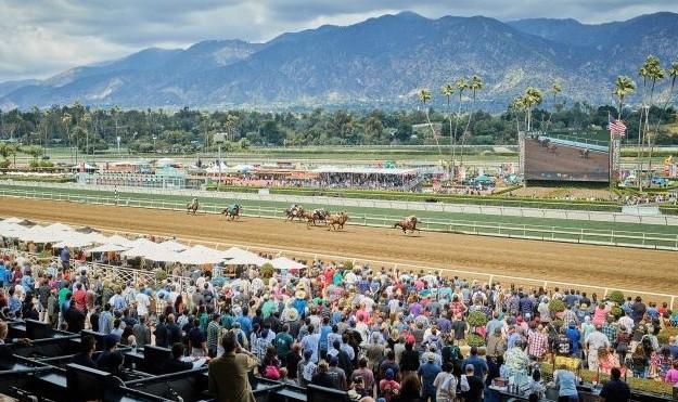 Santa Anita horse racing track in California