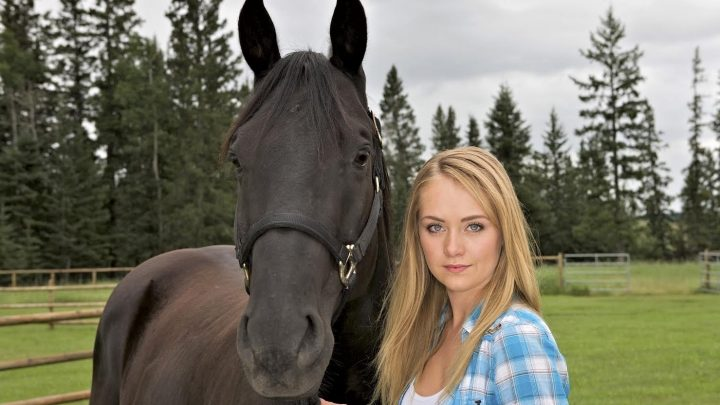 Amy Fleming and Spartan from Heartland