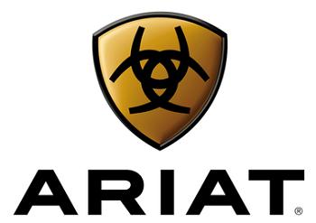 Ariat brand logo. Popular maker of horse riding boots