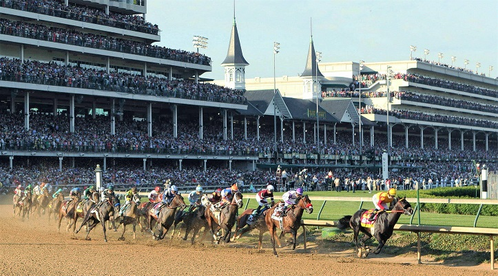 Churchill Downs horse racing complex in Kentucky, United States