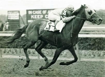 Count Fleet racing at the Kentucky Derby