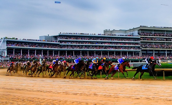 First corner of the Kentucky Derby horse racing in America