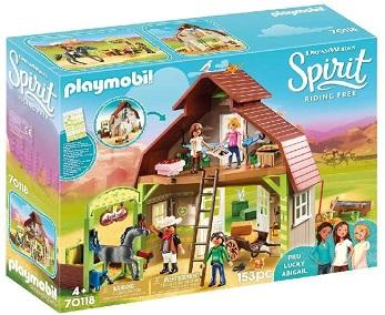 Spirit Riding Free Barn with Lucky, PRU & Abigail