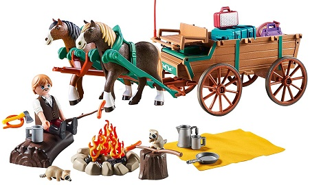 Spirit Riding Free Lucky's Dad with Covered Wagon Toy