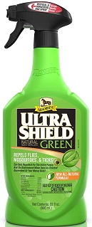 Absorbine UltraShield Green All-Natural Fly Spray for Horses & Dogs