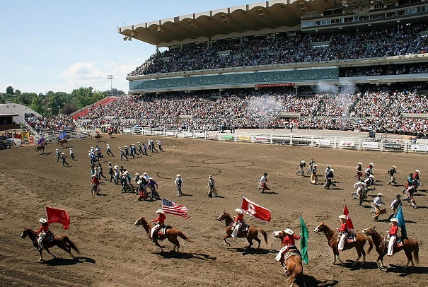 Calgary Stampede rodeo show in Canada in 2011