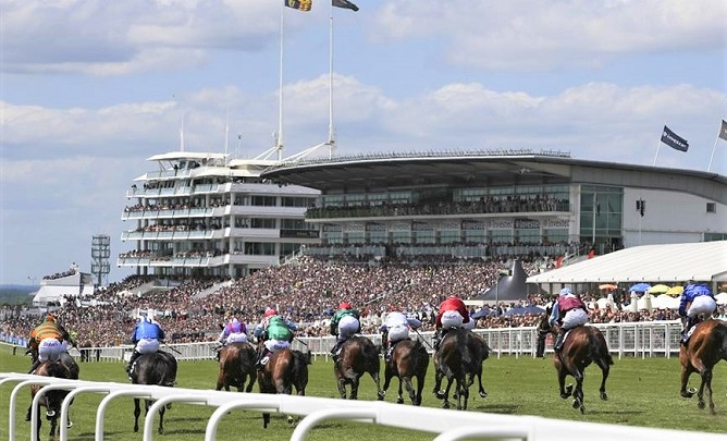 Epsom Downs race course in England