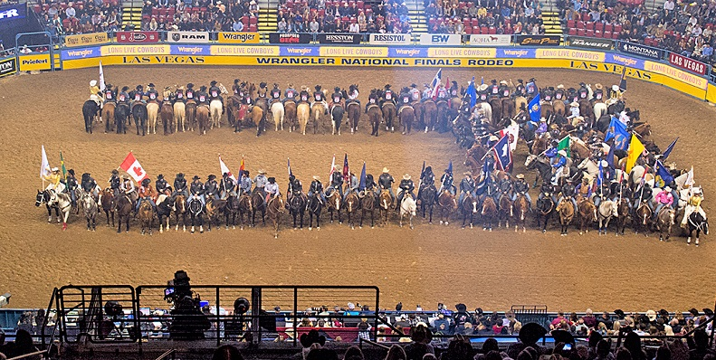 National Finals Rodeo event in Las Vegas