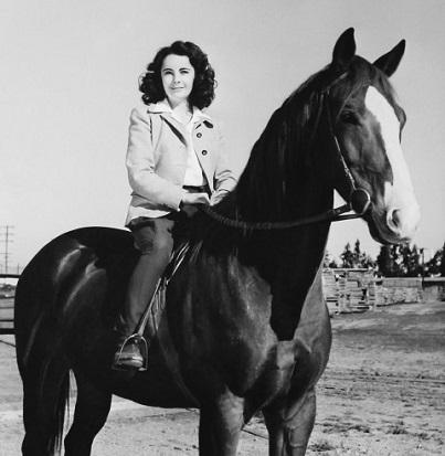Elizabeth Taylor on a horse