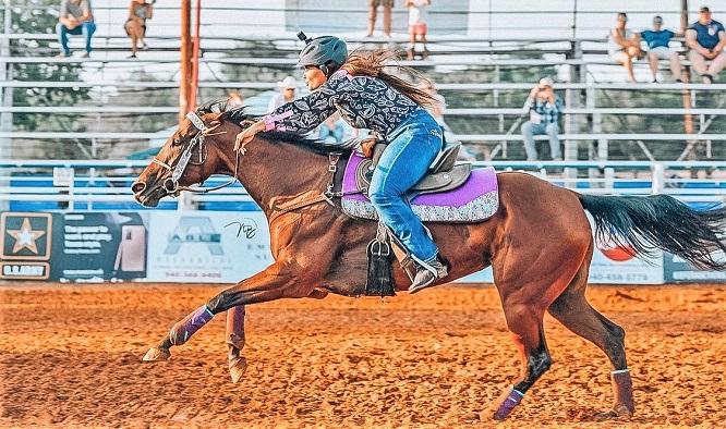 Fallon Taylor Barrel racing on BabyFlo