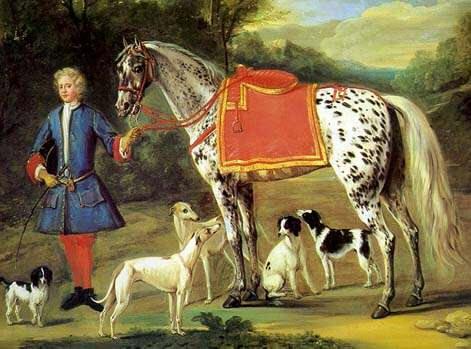 Spanish Jennet horse breed painting