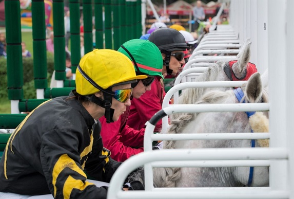 Starting gate of a horse race