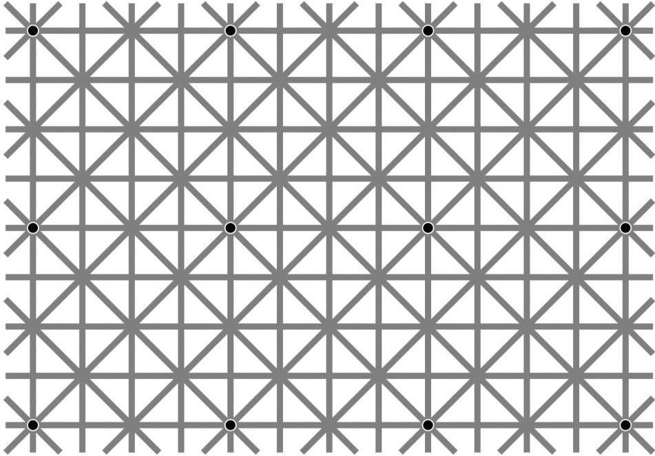 Optical Illusion white and black dots