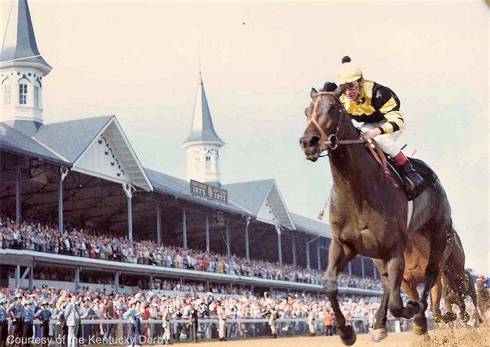 Seattle Slew racing in the Kentucky Derby
